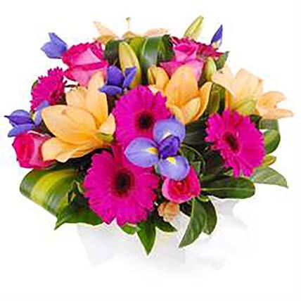 Arrangement of Bright Flowers:
