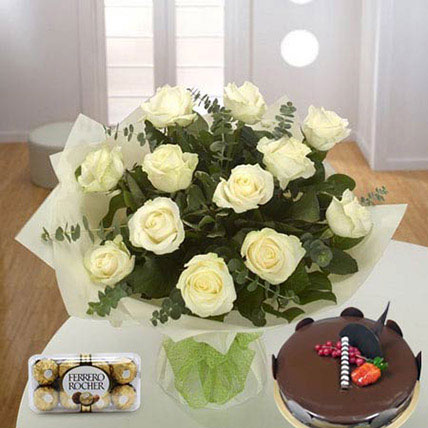 Pure Love Combo BH: Cake Delivery in Bahrain