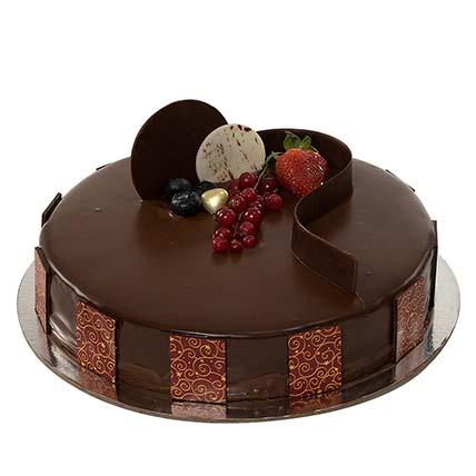 1kg Chocolate Truffle Cake: Send Cakes to Bangladesh