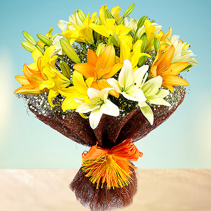 Sunny Asiatic Lilies EG: Egypt Gift Delivery