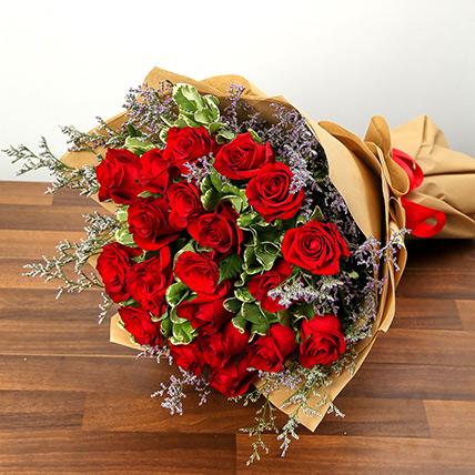 Bouquet Of 20 Red Roses JD: Flower Delivery Jordan