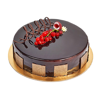 500gm Eggless Chocolate Truffle Cake: Anniversary Cakes for Parents