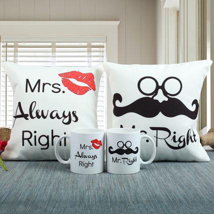 Always Right Cushion N Mug Combo: Personalised Cushions