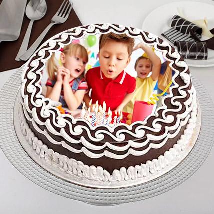 Birthday Celebrations Photo Cake: