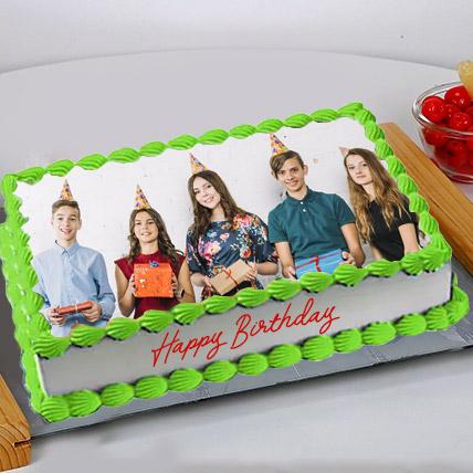 Birthday Photo Cake: Custom Cakes