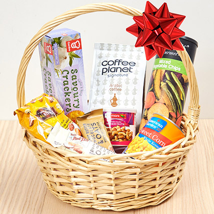 Coffee and Snacks Basket: Birthday Gift Ideas