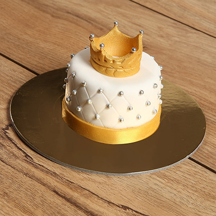 Designer Crowned Mono Cake: Gift Ideas for Girls
