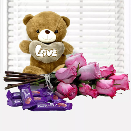 Fall in Love Again: Propose Day Flowers & Teddy Bears