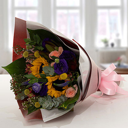 Gracious Flower Bouquet In Paper Packing: