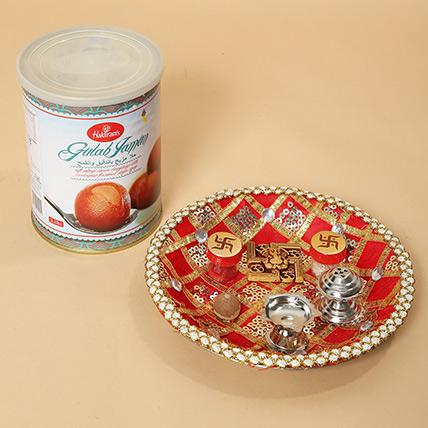 Gulab Jamun and Pooja Thali Combo: Deepavali Sweets