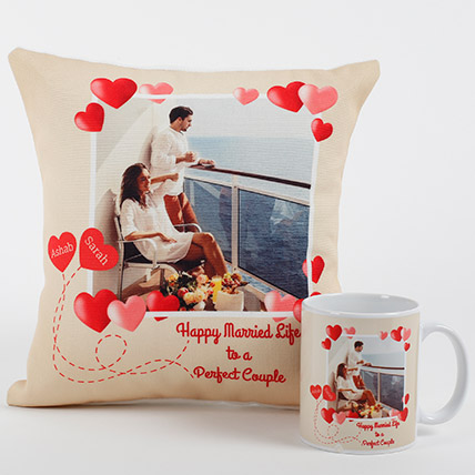 Perfect Love Personalized Combo: Personalised Cushions