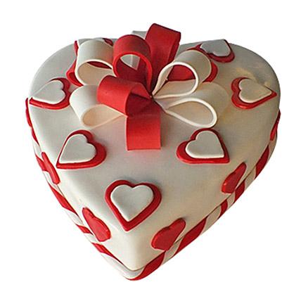 Red Ribbon Cake: Valentine Day Cakes to Dubai