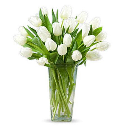 20 White Tulips: Wedding Anniversary Gifts for Parents