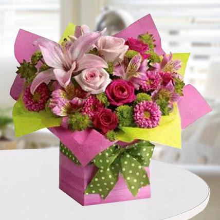 Pretty Pink Present: Graduation Flowers