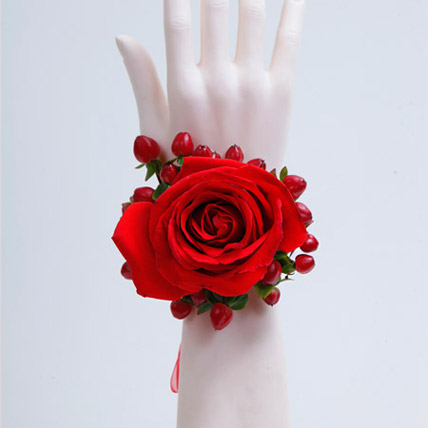 Spectrum of Red Bracelet: Wedding Flowers