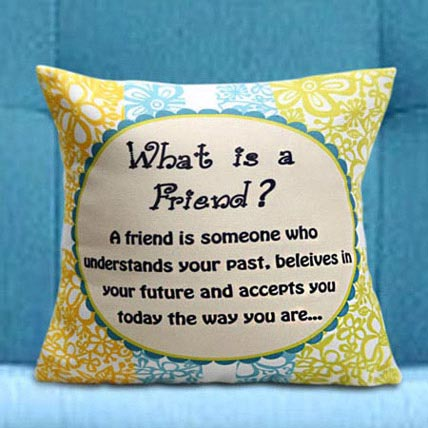 True Friends Cushion: Friendship Day Cushions