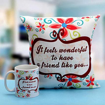 Wonderful Friends Mug N Cushion: Friendship Day Cushions