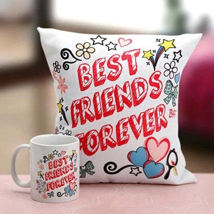 Best Friends Mug N Cushion: Friendship Day Gift Ideas 2020