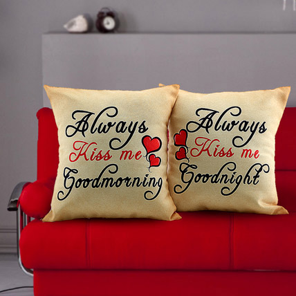 Always Kiss Me Cushions: Valentines Day Cushions