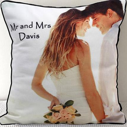 Mr N Mrs Personalized Cushion: Anniversary Cushions
