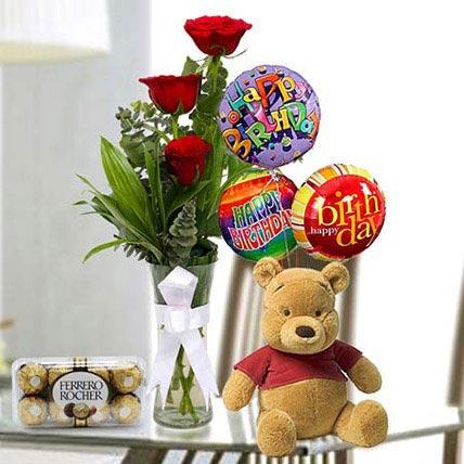 Stunning Delight: Roses & Teddies