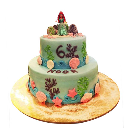 Red haired Princess Cake: Princess Theme Cake