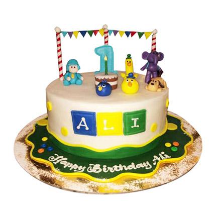 Happy Pocoyo Cake: 1 year birthday cake