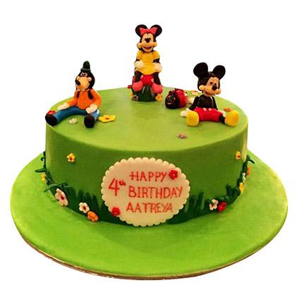 Mickey and Family Cake: Cartoon Birthday Cakes