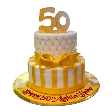 Gold Anniversary Cake: Anniversary Designer Cakes