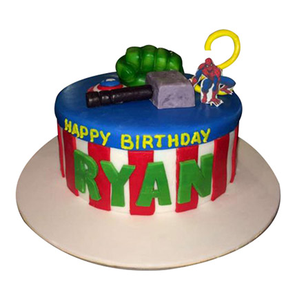 Superhero Cake: Cartoon Cake