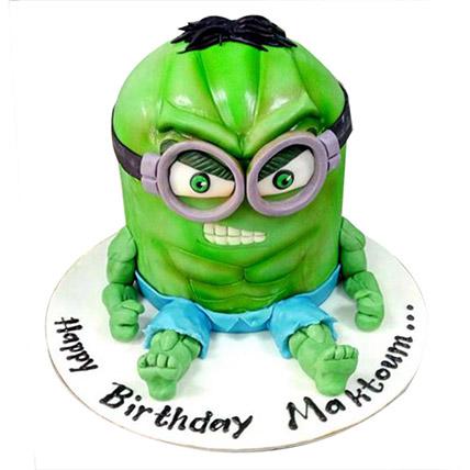 Minion Green Cake: 3D Cakes