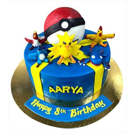 Pokemon at one place Cake: Pokemon Cake Ideas