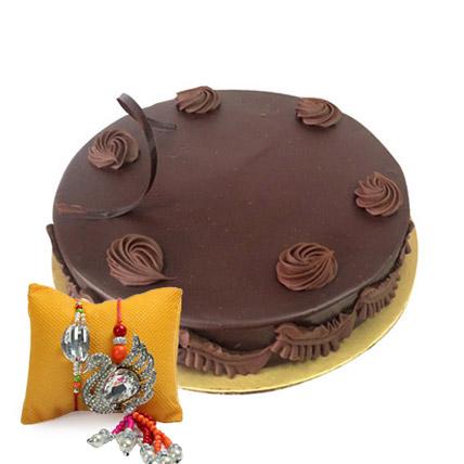 Eggless Chocolate Truffle with Rakhi: Rakhi With Cakes