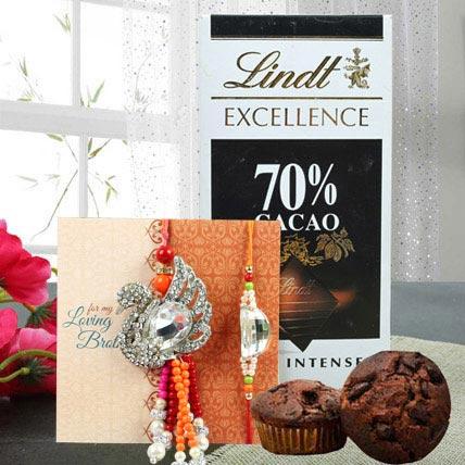 Luxurious chocolate combo: Bracelet Rakhi