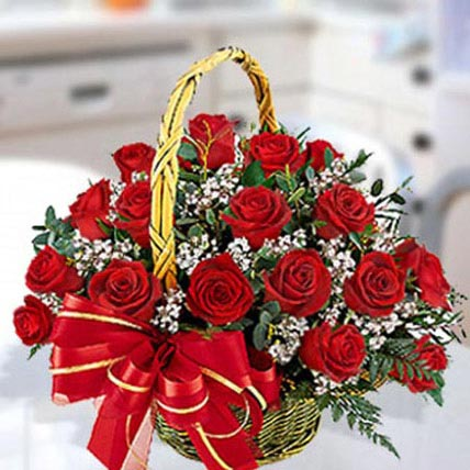 30 Red Roses Arrangement: Wedding Flowers