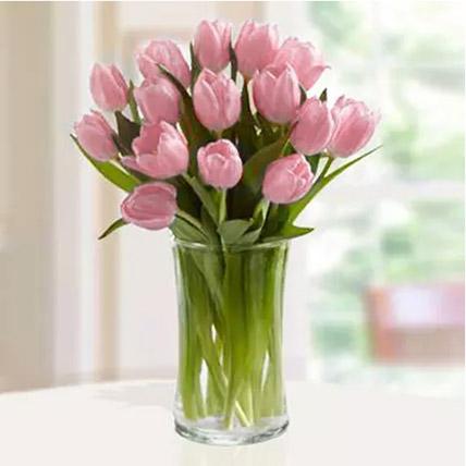 Pink Tulips Arrangement: Tulip Flowers