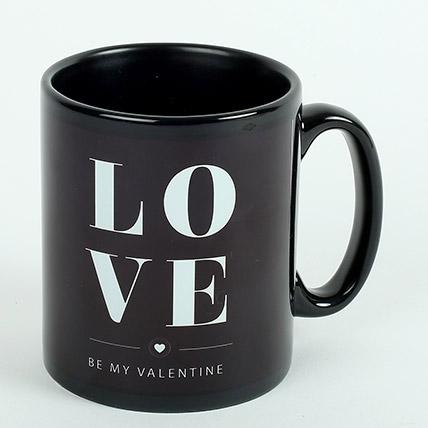 Black Ceramic Love Mug: Personalized Mugs Dubai