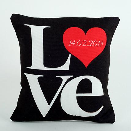 Black Love Cushion: Personalised Cushions