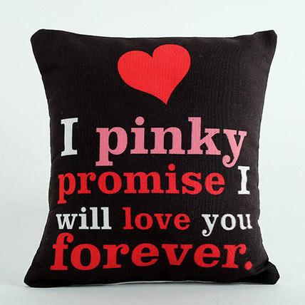Pinky Promise Cushion: Anniversary Cushions