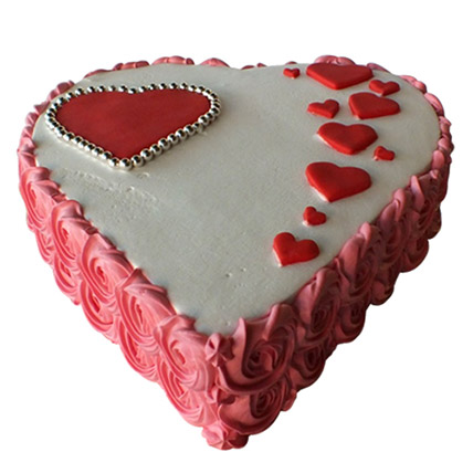 Heartshape Love Cake: Valentine Day Cakes for Her