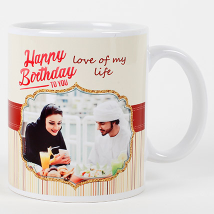 Romantic Birthday Personalized Mug: Personalised Gifts for Mother
