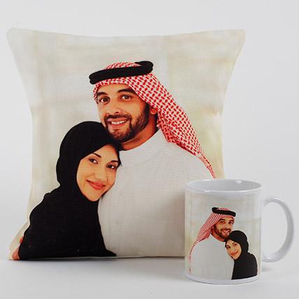 Lovable Personalized Cushion N Mug: Anniversary Mugs