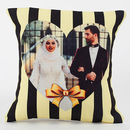 Tied With Love Personalized Cushion: Valentines Day Cushions