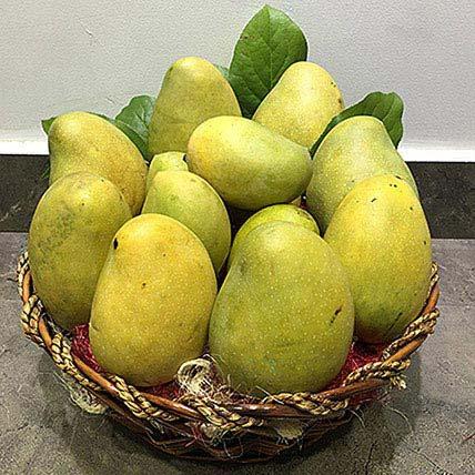 Assorted Mangoes in a basket: Fruit Basket Dubai