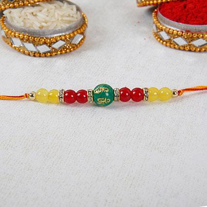 Gorgeous Beads Rakhi:  Rakhi Delivery