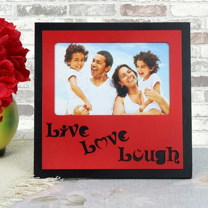 Personalized Live Love Lough Frame: Personalised Gifts for Anniversary