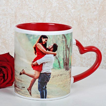 Red And White Personalized Mug: