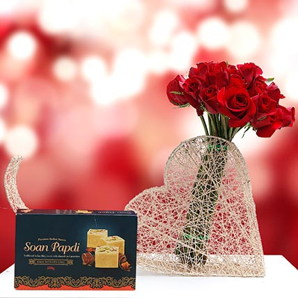 Sweet and Romantic Gift Combo: Birthday Flowers & Sweets