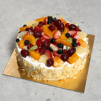 Eggless Fresh Fruit Fantasy: Anniversary Eggless Cakes