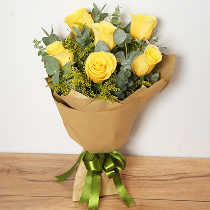 Bouquet Of Yellow Roses: Thank You Flowers